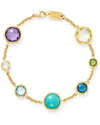 Ippolita - 18k Yellow Gold Lollipop 7-stone Link Bracelet - Lyst