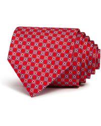 Ferragamo - Gancini Florettes Silk Classic Tie - Lyst
