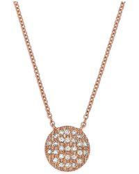 Dana Rebecca - 14k Rose Gold Lauren Joy Medium Necklace With Diamonds - Lyst
