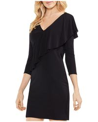 Vince Camuto - Draped Ruffle Dress - Lyst