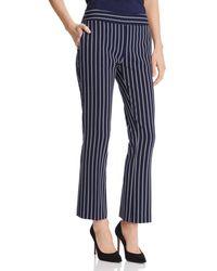 BOSS Tebella Striped Trouser - Blue