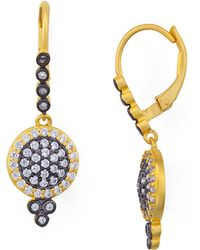 Freida Rothman | Mini Pavé Leverback Earrings | Lyst