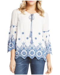 Karen Kane - Embroidered Bell-sleeve Top - Lyst