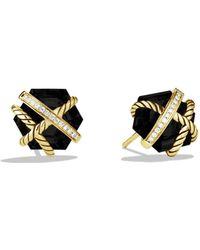 David Yurman - Cable Wrap Earrings With Black Onyx - Lyst