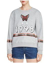 Maje - Talia Embellished Sweatshirt - Lyst