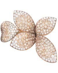Pasquale Bruni - 18k Rose Gold Secret Garden Four Petal Pavé Diamond Ring - Lyst