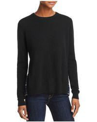 Aqua - Plaid-hem Sweater - Lyst