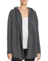 Eberjey - Paula Open-front Knit Hooded Cardigan - Lyst
