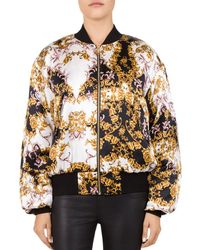 907dd87e42c The Kooples Floral-print Crepe Jacket in Black - Lyst