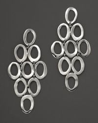 Ippolita - Sterling Silver Open Oval Cascade Earrings - Lyst