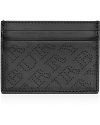 Burberry - Perforated Logo Leather Card Case - Lyst