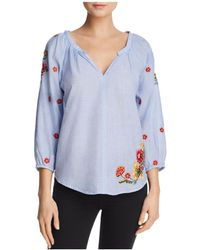 Velvet By Graham & Spencer - Arabelle Embroidered Top - Lyst