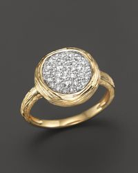 Bloomingdale's - Diamond Circle Statement Ring In 14k Yellow Gold, .40 Ct. T.w. - Lyst