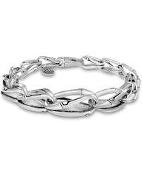 John Hardy | Sterling Silver Bamboo Graduated Link Bracelet | Lyst