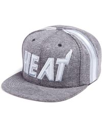 1c3261c47f7 Mitchell   Ness Miami Heat Forces Snapback Cap in White for Men - Lyst