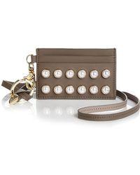 Zac Zac Posen - Earthette Faux-pearl Lanyard Card Case - Lyst