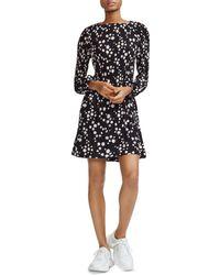 Maje - Rockiz Pleated Daisy Print Dress - Lyst