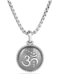 David Yurman - Cable Collectibles Om Amulet With Diamonds - Lyst