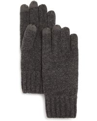 Bloomingdale's - Textured Finger Text Gloves - Lyst
