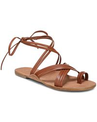 Via Spiga - Women's Allegra Leather Ankle Tie Sandals - Lyst