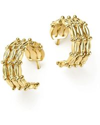 Temple St. Clair - 18k Yellow Gold Vigna Hoop Earrings - Lyst