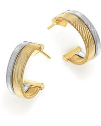 Marco Bicego - 18k Yellow And White Gold Masai Two Row Hoop Earrings - Lyst