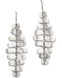 Bloomingdale's - Sterling Silver Hammered Shimmer Drop Earrings - Lyst