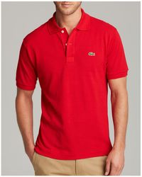 Lacoste - Red Classic Pique Polo - Lyst