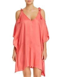 Echo - Cold-shoulder Dress Swim Cover-up - Lyst
