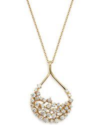 Bloomingdale's - Diamond Teardrop Shape Pendant Necklace In 14k Yellow Gold, 2.45 Ct. T.w. - Lyst