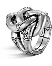 John Hardy - Women's Sterling Silver Bamboo Knot Ring - Lyst