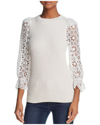 Rebecca Taylor - Lace-sleeve Jumper - Lyst