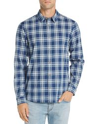 725871b21073 Lyst - Barbour Hector Tailored Fit Check Sport Shirt in Blue for Men