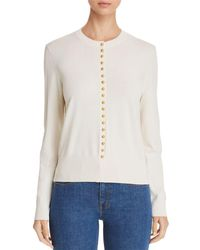 Tory Burch - Natalia Button-trimmed Sweater - Lyst