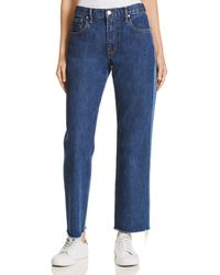 Elizabeth and James - Holden Wide Leg Jeans In Medium Denim - Lyst