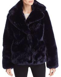 Vince Camuto - Faux Fur Coat - Lyst