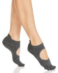 8cc99deae5148 ToeSox - Studded Bellarina Full Toe Grip Socks - Lyst