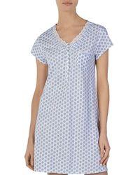 Eileen West - Elieen West Cap Sleeve Short Gown - Lyst