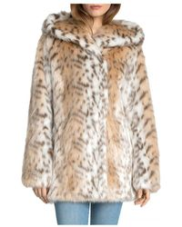 Avec Les Filles - Hooded Faux Fur Coat - Lyst