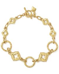 Armenta - 18k Yellow Gold Sueno Sculpted Circle Link Bracelet - Lyst