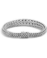 John Hardy - Sterling Silver Classic Chain Graduated Bracelet - Lyst