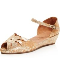 Gentle Souls   Women's Lily Moon Leather Wedge Flats   Lyst