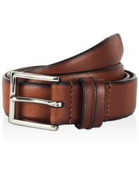 Cole Haan - Feather Edge Belt With Pinch Detail On Loop - Lyst