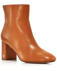 3c89c99b0273 Tory Burch - Women s Brooke Round Toe Leather Booties - Lyst