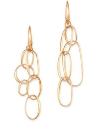 2c884f17173e Lyst - Oscar de la Renta Asymmetrical Crystal Clip-on Drop Earrings ...