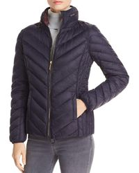 MICHAEL Michael Kors - Chevron Packable Short Down Coat - Lyst