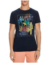 Scotch & Soda - After Hours Melange Graphic Jersey Tee - Lyst