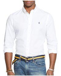 Polo Ralph Lauren - Cotton Poplin Button-down Shirt - Classic Fit - Lyst