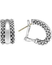 Lagos - Caviartm Hoop Earrings In Sterling Silver - Lyst