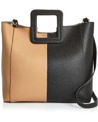 TMRW STUDIO - Antonio Color Block Leather Satchel - Lyst